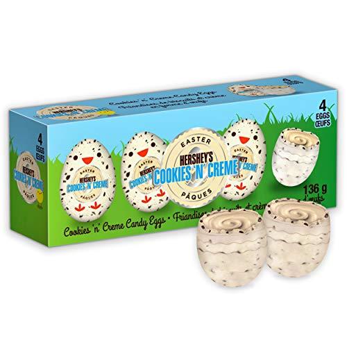 Hershey's Cookies 'N' Crème Candy Easter Eggs, 4 Pack of Eggs, 136g, 136 Grams