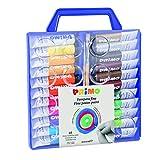 Morocolor PRIMO, Tempere per dipingere 22 colori valigetta con coperchio tavolozza e pennelli...