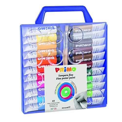 Morocolor PRIMO, Tempere per dipingere 22 colori valigetta con...