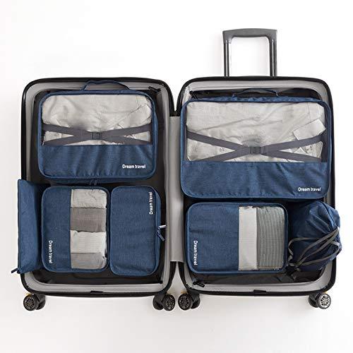 Wmeat-P Bolsas de almacenamiento de viaje con cremalleras,Organizador de bolsas de almacenamiento de equipaje,para ropa zapatos de maleta