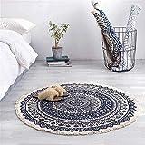 WJY Teppiche, Teppich, Teppich, Teppiche, Marokko Runde Teppichboden Schlafzimmer Boho Style-Tassel...