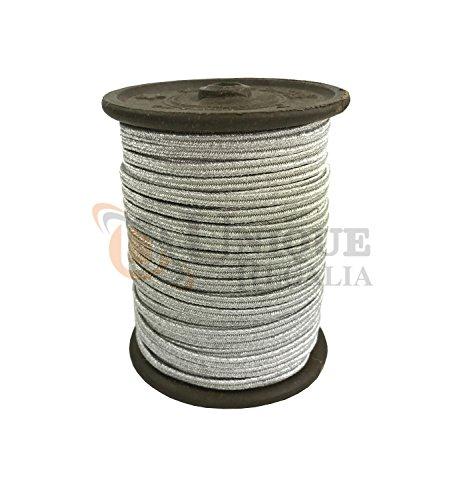 maçonnique Argenté ou doré Mylar russe Cord, Braid Panneaux 5Mtr 4mm Silver