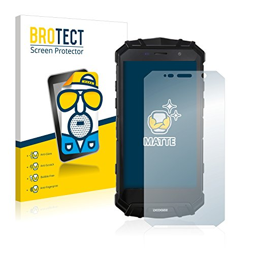 BROTECT 2X Entspiegelungs-Schutzfolie kompatibel mit Doogee S60 Bildschirmschutz-Folie Matt, Anti-Reflex, Anti-Fingerprint