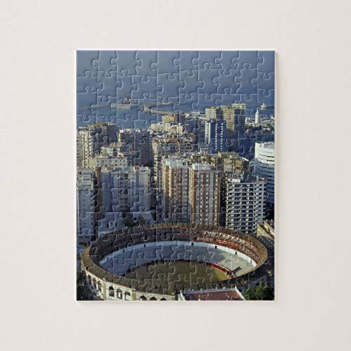 Scott397House Jigsaw Puzzles 1000 Pieces For Adults Large Piece Puzzle Spain, Malaga, Andalucia View of Plaza De Toros Fun Game Toys Birthday Gifts Fit Together Perfectly