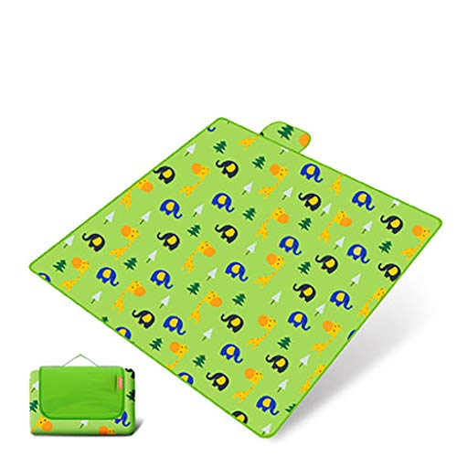 HLD Mat Pique-Nique étanche à l'humidité Tapis d'extérieur Plage Pliant Portable Pique-Nique Pique-Nique Tapis de pelouse Pique-Nique en Tissu épais imperméable Couverture de Pique-Nique (Color : C)