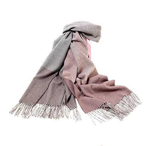 Sjaal voor dames, 100% klassieke sjaal van wol voor winter, warm, zacht en dik, eenheidsmaat 200 x 70 cm