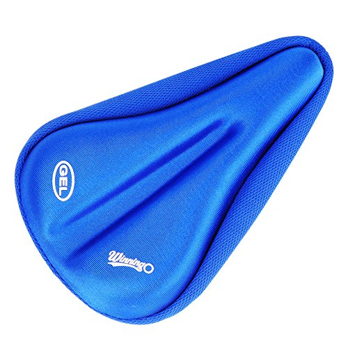 WINNINGO Child Bike Gel Seat Cushion, Toddler Cycling Saddle Cover Comfortable Small Bicycle Saddle Pad (Blue)