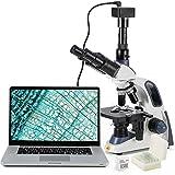 Microscopio Swift SW380T-SC500-CK-5PBC Microscopio trinocular de Laboratorio Compuesto, 40...