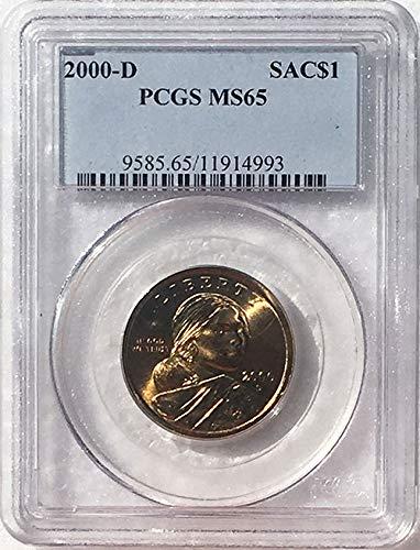 2000 D Sacagawea Dollar MS 65 Blue Label PCGS