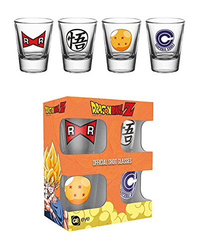 GB eye Dragon Ball Z Symbol Gläserset Shot Glasses 4tlg in Geschenkbox 5cl