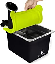 EVERIE Sous Vide Container 12 Quart with Silicone Collapsible Lid and Neoprene Sleeve Compatible with Anova 800w 900w and AN500-US00 1000w