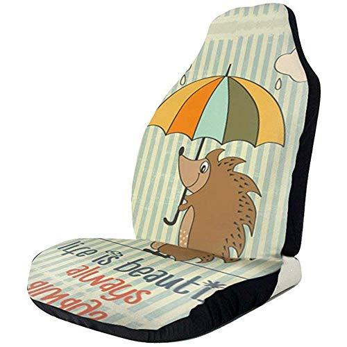 Joe-shop Egel met paraplu bedrukte auto stoelhoezen beschermer kussen Premium hoezen