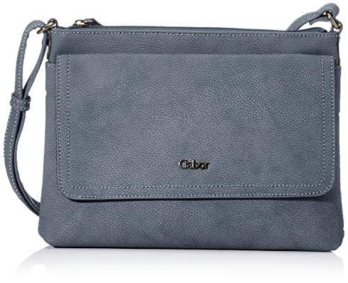 Gabor bags Umhängetasche Damen Dina, Blau, M, Rucksackhandtasche, Gabor Tasche Damen