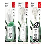 RADIUS Big Brush BPA Free & ADA Accepted Toothbrush Designed to Improve Gum Health & Reduce Gum Issues - Left Hand - Midnight Sky/ Marble/ Soda Pop Eco Grind - Pack of 3