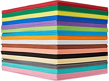 EVA Foam Handicraft Sheets  80 Pack - 6 x 9 Inches  Colorful Crafting Sponge for DIY Projects by My Toy House   Thick and Soft Paper 16 Colors 5 each