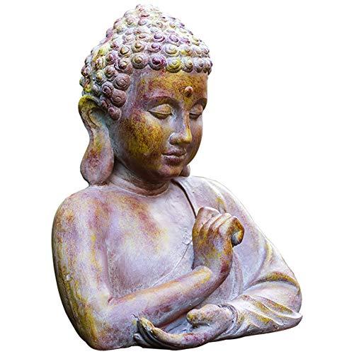 SDBRKYH Buda Busto Estatua, jardín Estatua de Buda decoración al Aire Libre la Cabeza de Buda Sakyamuni Buda Zen Retro joyería Religiosa