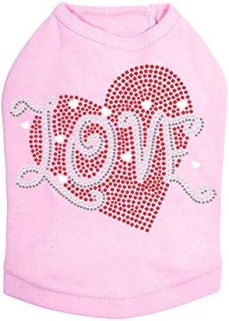 Love Red Heart OFFer - Dog Choice L Pink Shirt