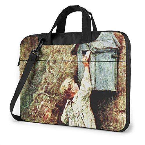 Lawenp Laptop Case Computer Bag Sleeve Cover Post Box Waterproof Shoulder Briefcase 13 14 15.6 Inch