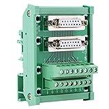 Placa De Módulo De Conexión En Bloque, Conexión Eléctrica Carril DIN DB15 Compre Con Facilidad Adaptadores En Serie De Placa De Bloque De Terminales