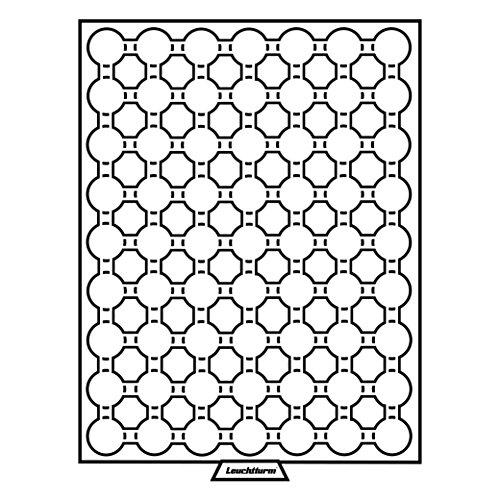Leuchtturm 306702 MB Münzbox für Kapseln mit Innendurchmesser: 19 mm Ø | Für 2 Euro-Cent | Rauchfarben