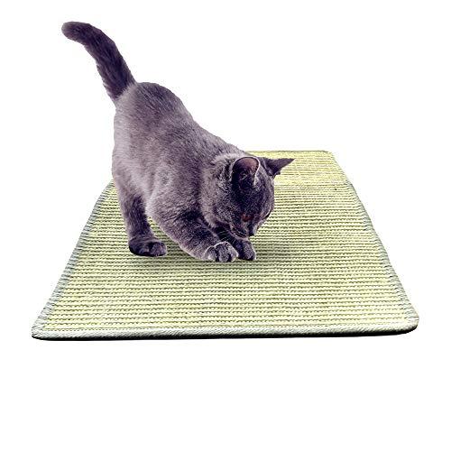 TUKINOTORI Cat Scratcher MatNatural Sisal Rope Cat Scratching Carpet PadFloor Scratching Rug Grey