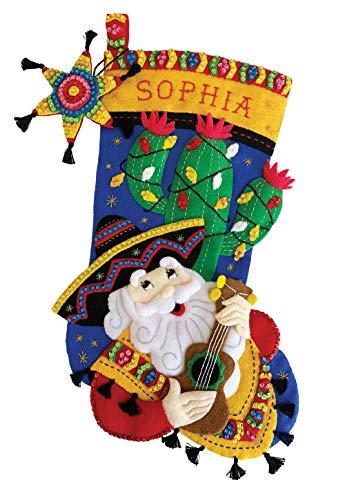 Feliz Navidad 18' Felt Christmas Stocking Kit …