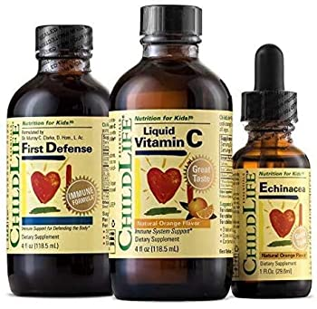 ChildLife Essentials Immune Support Assortment Pack for Infants Babies Kids Toddlers Children and Teens  First Defense Vitamin C and Echinacea