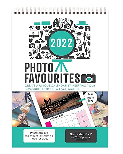 2022 Insert Your Own Photos A4 Spiral Bound Wall Hanging Calendar Photo Favourites