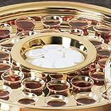 Communion Tray Center Bread Plate - Brass Finish