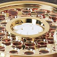 聖体トレイ センターブレッドプレート 真鍮仕上げ