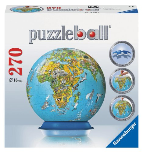 Puzzleball: Illustrated World Map