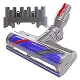Spares2go - Cabezal para cepillo de piso de turbina + soporte para herramientas para aspiradora Dyson V10 SV12 Cyclone Animal Absolute sin cable
