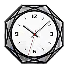 ★ [No ticking wall clock] --- Super high-quality quartz sweep tube movement to ensure accurate time, ensure a good sleep and an absolutely quiet environment. ★ [Style] --- This wall clock has a creative appearance, and the polygonal simple appearance...