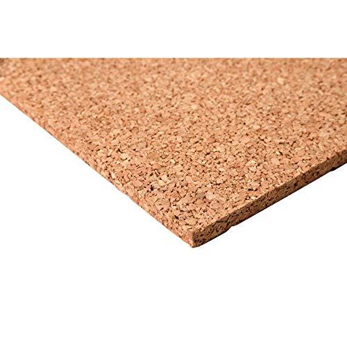 acerto 30224 Hochwertige Korkplatte 8 mm * Elastisch * Schadstofffrei * Antistatisch | Geeignet als Pinnwand, Bastel-Unterlage für Modellbau & Weltkarte, Korktafel zum Fotos aufhängen (100x60cm)