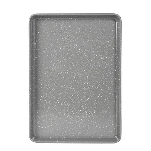 Cook with Color Bakeware Non Stick Baking Sheet, Speckled 11x17 inch Classic Cookie Sheet, Roasting Sheet (Grey)