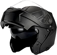 1Storm Motorcycle Modular Full Face Helmet Flip up Dual Visor/Sun Shield Matt Black
