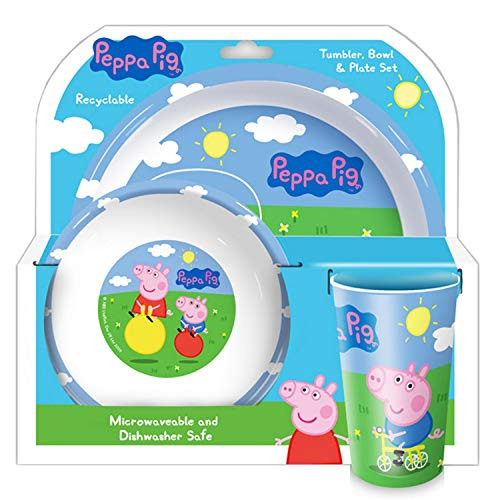 Peppa Pig and George Gobelet, Bol et Assiette