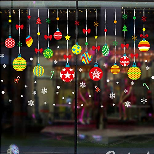 Pmhc zelfklevende muurstickers voor Kerstmis, geen lijm voor Kerstmis, schattige vetrina om zelf te maken, jaar