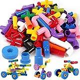 Onshine 72 Pièces Jouet Puzzle Enfant 3 ans Bloc Jeu de Construction Voiture en...