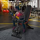 U`King Adjustable Weight Bench Home Training Gym Weight Lifting Sit Up Ab Bench ,Foldable and Inclined, Abdominal Muscle Training