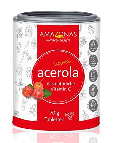 Amazonas Naturprodukte Bio Acerola Lutschtabletten mit Vitamin C (1 x 70 g)