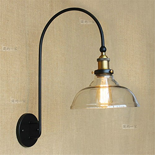 JJZHG Wandlamp, waterdicht, wandverlichting, magazijn, wandlamp, land-restaurant, modieus, tafel, make-uptafel, glas, wandlamp bevat: wandlamp, stoere wandlampen