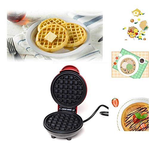 Mini Waffeleisen + Home Back Waffeleisen Kürbis, geeignet für Einzelwaffel, Panini/Waffeleisen, Frühstück, Mittagessen oder Snack/DIY Küche (6 Zoll)