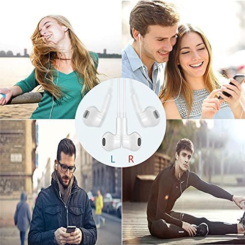 NAKEWAN USB C Headphones 2021 HiFi Stereo Type Beckham Hotel Collection 3100 Series Luxury (White)