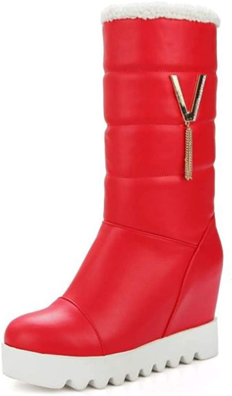 Believed Women's Fashion Autumn Winter Boots Snow Flat Boots Ladies Winter Warm Fur Boots