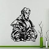 Tianpengyuanshuai Heroes Hellboy Etiqueta de la Pared Vinilo Artista Decoración del hogar Habitación de los niños Mural extraíble 50X63cm