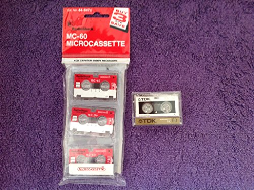 Microcassettes Tape MC- 60 Radio Shack Pack 3