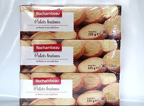 Rochambeau Kekse Bretonische Palets mit Butter 6 x 125g. insgesamt 750g.