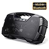 Portable Bluetooth Speakers V5.0, Waterproof Wireless Home Party Speaker, 25W Rich Bass Impressive Sound, 15 Hrs Playtime & Wireless Stereo Pairing, Built-in Mic, Durable for Camping, Indoor, Outdoor
