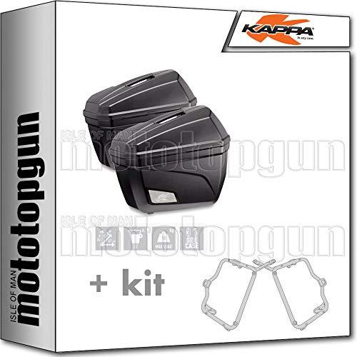 kappa maletas laterales k22n 22 lt + portamaletas lateral fijacion rapida monokey...